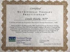 Certificación en Nutrición, Nutrition Therapy Association, USA.
